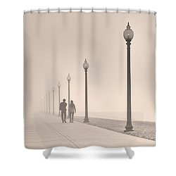 Morning Walk Shower Curtain by Don Spenner