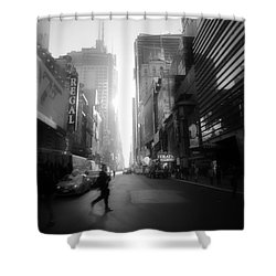 Morning Walk In Ny Shower Curtain
