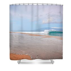 Morning Wave Shower Curtain by Kelly Wade