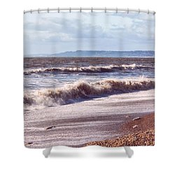 Morning Waves On The Shore Shower Curtain