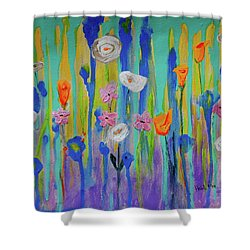 Morning Wildflowers Shower Curtain