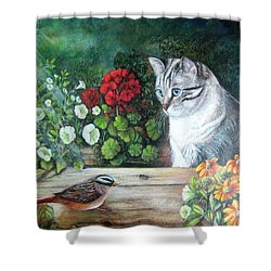 Shower Curtain featuring the painting Morningsurprise by Patricia Schneider Mitchell