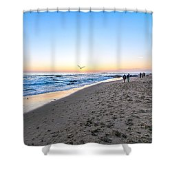 Shower Curtain featuring the photograph Moro Sunset by Anthony Baatz