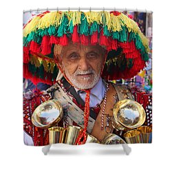 Shower Curtain featuring the photograph Moroccan Water Seller by Ramona Johnston