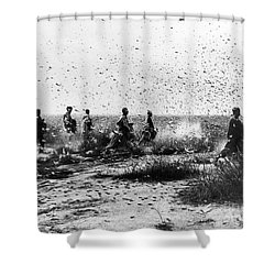 Morocco: Locusts, 1954 Shower Curtain by Granger