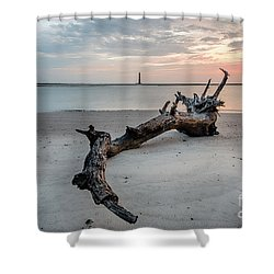 Morris Island Shower Curtain by Robert Loe