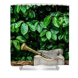 Mortar And Pestle Shower Curtain
