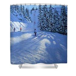 Morzine Ski Run Shower Curtain