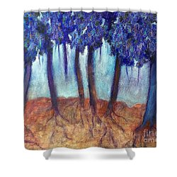 Mosaic Daydreams Shower Curtain by Elizabeth Fontaine-Barr