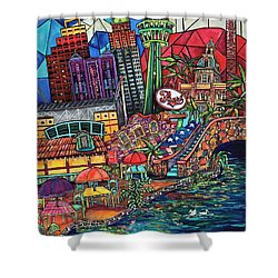 Mosaic River Shower Curtain