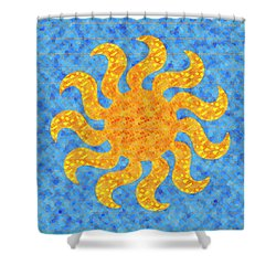 Mosaic Stained-glass Of The Sun Shower Curtain
