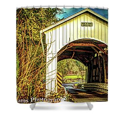 Mosby Creek Bridge Shower Curtain