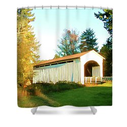 Mosby Creek Covered Bridge Shower Curtain