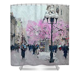 Moscow Arbat Street View Shower Curtain