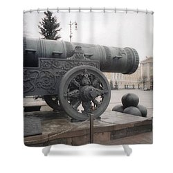 Moscow Cannon Relic Shower Curtain by Ted Pollard