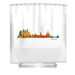 Moscow City Skyline Hq V1 Shower Curtain by HQ Photo