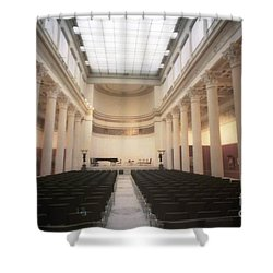 Moscow Consert Hall Shower Curtain by Ted Pollard
