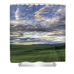 Moscow Mtn Sunset Shower Curtain