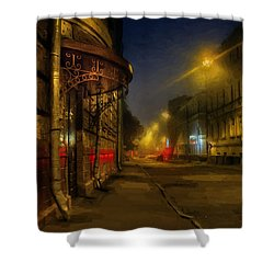 Shower Curtain featuring the photograph Moscow Steampunk Sketch by Alexey Kljatov