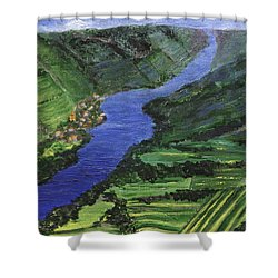 Shower Curtain featuring the painting Moselle River by Jamie Frier