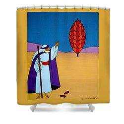 Moses And The Burning Bush Shower Curtain