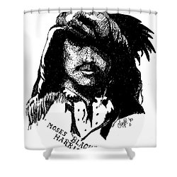Moses Black Harris Shower Curtain