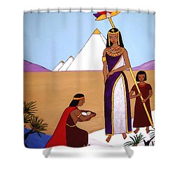 Shower Curtain featuring the painting Moses In The Bullrushes by Stephanie Moore