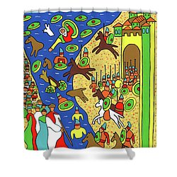 Moses Parting The Red Sea Shower Curtain