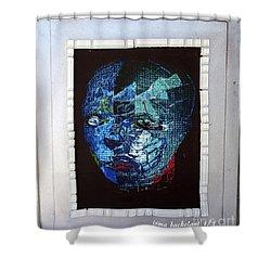 Mosiac Man Shower Curtain