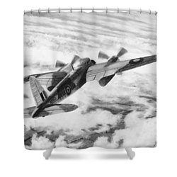 Mosquito Fighter Bomber Shower Curtain