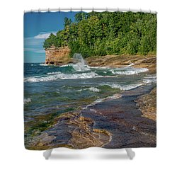 Mosquito Harbor Waves  Shower Curtain