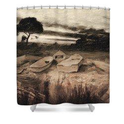 Moss Shower Curtain by Taylan Apukovska