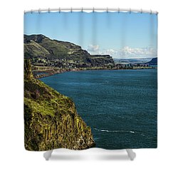 Mossy Cliffs On The Columbia Shower Curtain
