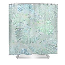 Mossy Faded Monstera Light Shower Curtain