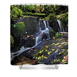 Emerald Cascades Shower Curtain