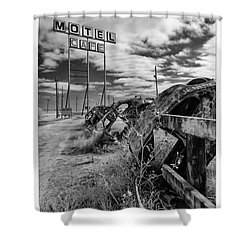 Motel Cafe Northern Texas  Shower Curtain