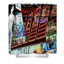 Motel Variations 24 Hours Shower Curtain