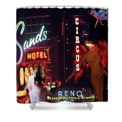 Motel Variations Angels Shower Curtain by Ann Tracy