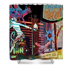 Motel Variations Night Of The Flyng Coyote Shower Curtain by Ann Tracy