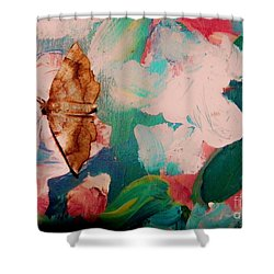 Moth On Painting Shower Curtain