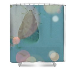 Moth World Shower Curtain