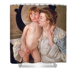 Mother And Boy Shower Curtain by Mary Stevenson Cassatt