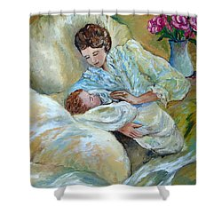 Mother And Child By May Villeneuve Shower Curtain