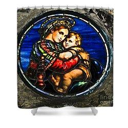 In God We Trust Wall Art Print Shower Curtain by Carol F Austin