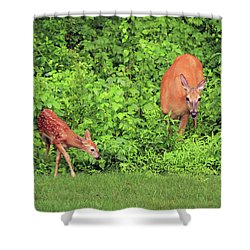 Mother And Child Shower Curtain by Karol Livote