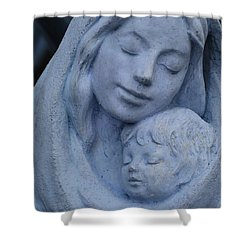 Mother And Child Shower Curtain by Susanne Van Hulst