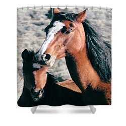 Mother And Colt Wild Shower Curtain