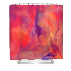 Shower Curtain featuring the painting Mother And Daughter Abstract by Sherri  Of Palm Springs