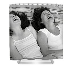 Mother And Daughter Laughing Shower Curtain by Michelle Quance
