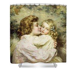 Mother And Daughter  Shower Curtain by Thomas Benjamin Kennington